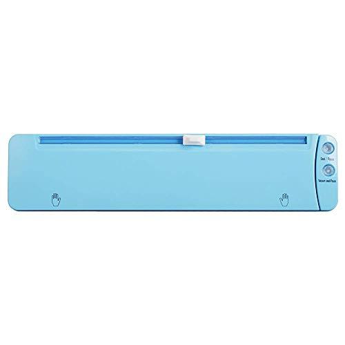 LITING Vakuumierer Nass und trocken Allgemeiner Haushalt Kleiner Vakuumierer Tragbarer Küchenbedarf Lebensmittelpaket (Farbe: Blau, Größe: 37,5 x 8,6 x 6 cm)