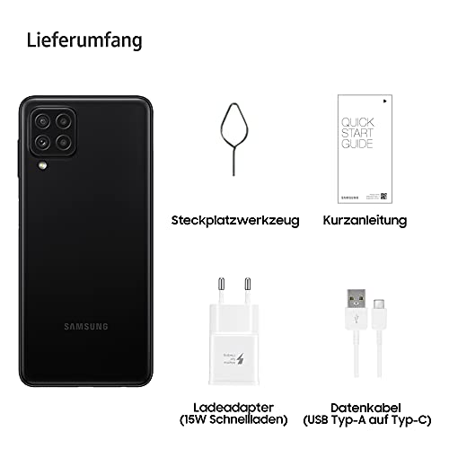Samsung Galaxy A22 Smartphone ohne Vertrag 6.4 Zoll 128 GB Android Handy Mobile Black - 6