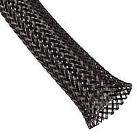 3/8 Inch PET Expandable Braided Sleeving- 10ft - Black