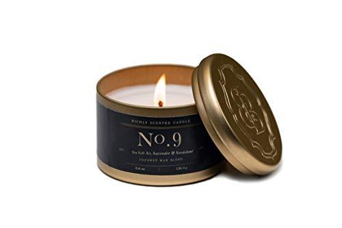 Britten & Bailey s No. 9 Tin Candle, Sea Salt Air, Lavender & Sandalwood, 4.6 oz