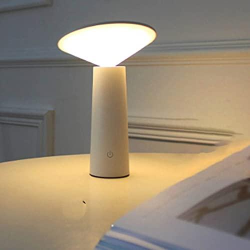FACAI Luz de Mesa LED Cafetería Restaurante Bar Lámpara de Escritorio USB Regulable Brillo Luz de Noche Decoración para Dormitorio Iluminación Interior,White