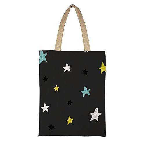 Dkisee Einkaufstasche für Kartendruck auf Kleidung, Leinen, Einkaufstasche, umweltfreundlich, lässig, wiederverwendbar, Handtasche, Schultertasche für Frauen und Mädchen, Geschenk für Sie