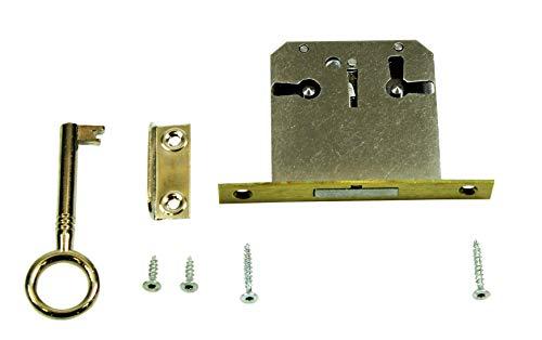 SN-TEC Einsteckschloss/Möbelschloss / Schrankschloss mit Zuhaltung 35mm Dornmaß rechts/links/oben verwendbar incl. Zubehör