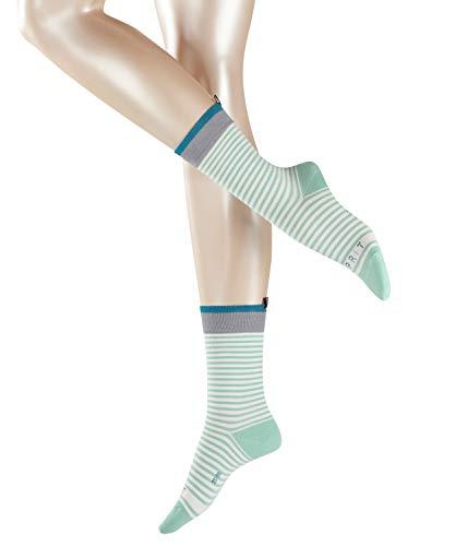 ESPRIT Damen Socken Heritage Stripe - Baumwollmischung, 1 Paar, Grün (Peppermint 7622), Größe: 39-42