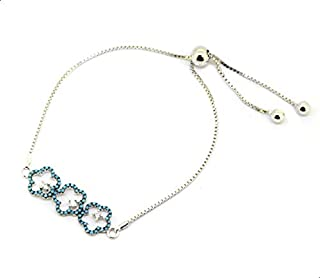 Parejo Silver Bracelet Flowers Shaped for Women