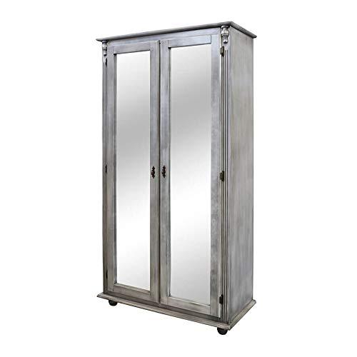 Sapateira Grande Com 2 Portas Com Espelho - Branco Pasta - Tommy Design
