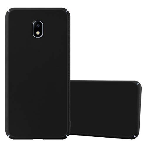 Cadorabo Custodia per Samsung Galaxy J3 2017 in Nero Metallo - Rigida Cover Protettiva Sottile con Bordo Protezione - Back Hard Case Ultra Slim Bumper Antiurto Guscio Plastica