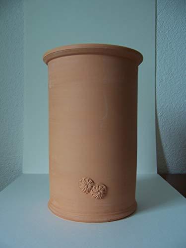 Töpferei Annett Fischer Weinkühler Terracotta handgetöpfert Höhe 21 cm Durchmesser 13 cm Volumen 1,4 l (beige-Stempel)
