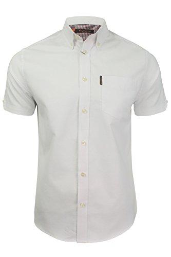 Ben Sherman Oxford Herren-Shirt, kurzärmelig Gr. XL, weiß