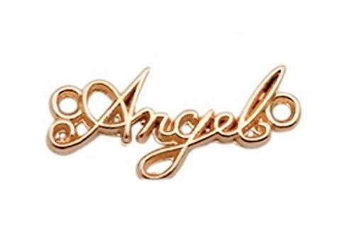 Sadingo DQ Metal Joyas Conector, Entre Pieza–Angel–1Pieza–22x 10mm–zamak–Color a Elegir–Joyas Manualidades