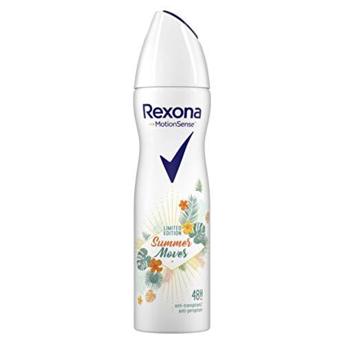 Rexona MotionSense Anti-Transpirant Deospray Summer Moves Limited Edition mit 48-Stunden-Schutz, 6er Pack(6 x 150 ml)