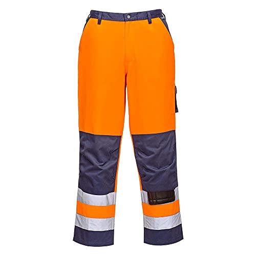Portwest TX51 Pantaloni Lyon Alta Visibilità, Arancione/Navy, XL