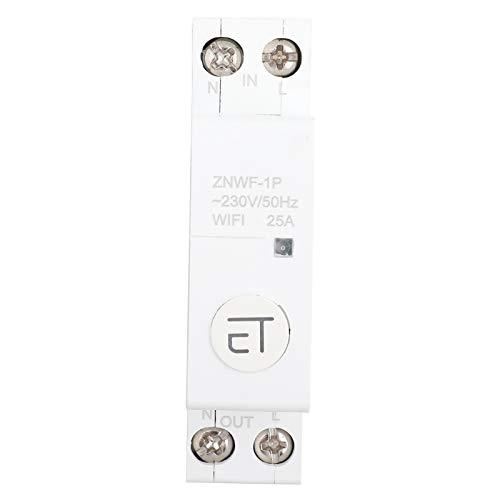 1p AC230v Ip20 Interruptor de Circuito Inteligente Wifi Interruptores de Circuito en Miniatura Interruptor de Control Remoto para Caja de Distribución(1p 25a)