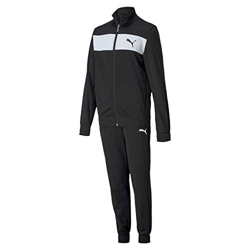 PUMA Jungen Poly Suit cl B Trainingsanzug, Black, 176