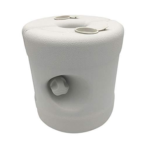 POHOVE Base para sombrilla de patio, con relleno de agua, 22,8 cm, plástico reciclable, para exteriores, para patio, jardín, porche de cubierta, 8 litros de agua