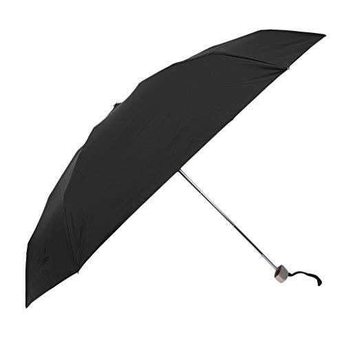 Regenschirm kompakter Taschenschirm UPF 50+ Kinderschirm Golfschirm Partnerschirm Portierschirm für Damen und Herren - Schwarz