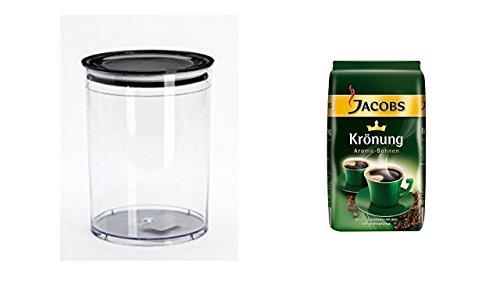 Jacobs Krönung Aroma-Bohnen 500g + Vorratsbehälter Aromafresh Kaffee 1 Liter Volumen