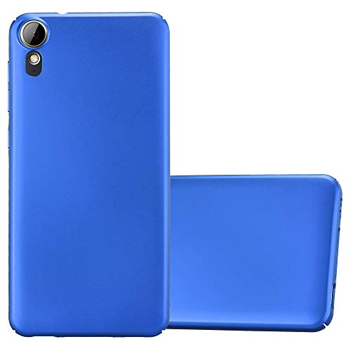 Cadorabo Hülle für HTC Desire 10 Lifestyle/Desire 825 - Hülle in Metall BLAU – Hardcase Handyhülle im Matt Metal Design - Schutzhülle Bumper Back Case Cover