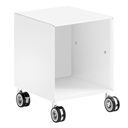mauser EXOTF1-385 offenes Element auf Rollen, 38,5 x 38,5 x 49 cm, signal weiß