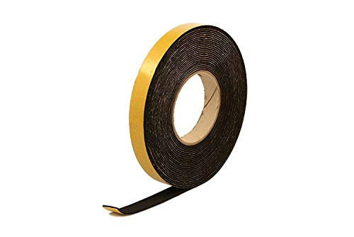 Neoprene Rubber Black Self-adhesive Sponge Strip 20mm wide x 2mm thick x 10m long
