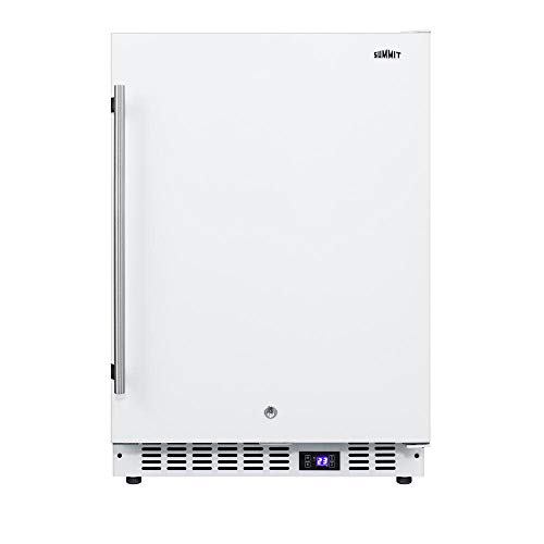 """Summit SCFF52W 24"""" Compact Freezer with 4.7 cu. ft. Capacity Commercially Approved Digital Thermostat Factory Installed Lock Open Door Alarm and Temperature Alarm in"""