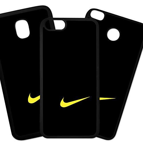 Fundas De Moviles Carcasas De Moviles Funda Carcasa Compatible con Marca Deportiva Nike Logo Amarillo Fondo Negro