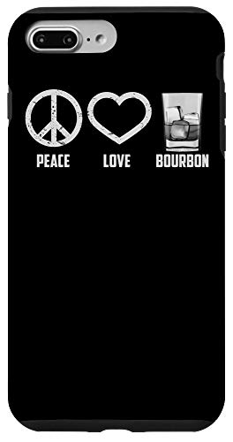 iPhone 7 Plus/8 Plus Peace Love Bourbon   Cool Whiskey Drinkers Gag Gift Case