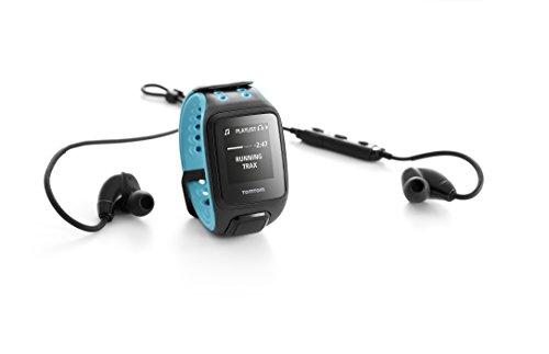 TomTom Runner 2 Cardio + Musik GPS Uhr, blau, L, 1RFM.001.05