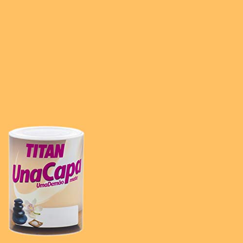 Pintura Mate Titan Una Capa - 750 mL, Ocre Medio