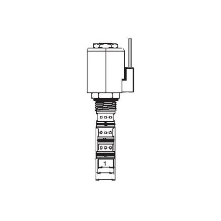 12 gpm 210 bars NC Valve No 10 Vickers 565534 SV1 Poppet Solenoid Valve