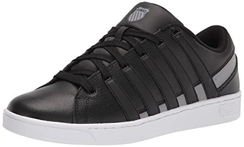 K-Swiss Herren Ramli Court Sneaker, Schwarz/Wild Dove/Weiß, 44 EU