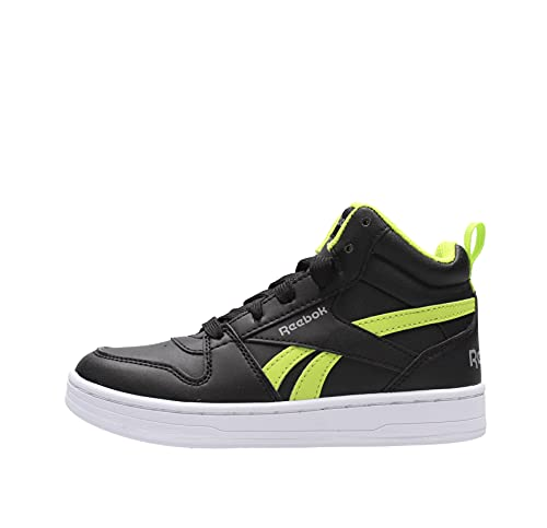 Reebok Boy's Boots Shoes Lifestyle Fashion Sneakers Royal Prime Mid 2 Running Training New (Black, Numeric_12)