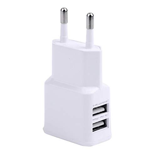 WEQQ 5V1A EU US Plug 2 Cargador USB Cargador rápido para teléfono móvil para iPhone para Android (Enchufe whiteEU)