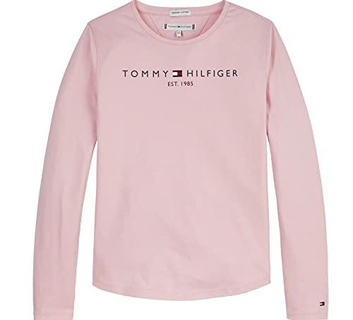 Tommy Hilfiger Essential tee L/S Camiseta, Rosa Delicado, 6 años para Niñas