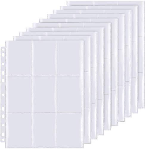 LISOPO 270 Pockets Sammelkarten 30 Seiten Pro 9-Pocket Pages(Doppelseitiges Display) -Standard-Größe, Sammelmappe, Neutral, Transparent Sammelkartenzubehör
