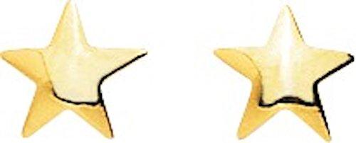 STELLA-Ohrringe Gelbgold 9 ct-Systeme Kinderwagen a www.diamants perles.com-Schrauben