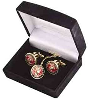 Coins For Anything Inc Marine Corps League Cufflinks and Tie-tack