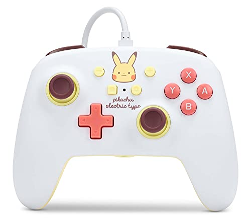 PowerA Enhanced Wired Controller for Nintendo Switch - Pikachu Electric Type, Nintendo Switch Lite, Gamepad, Game Controller, Wired Controller, Officially Licensed - Nintendo Switch