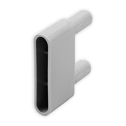DIWARO® Endstabgleiter | Größe 60mm x 29mm x 13,6mm | Farbe grau | Material Kunststoff | für Endleiste, Endschiene, Winkelendschiene | Rolladenpanzer, Jalousie, Rollo