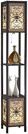 Artiva USA A808102DEX Infinity Heart Shelf Floor Lamp 64 Expresso product image