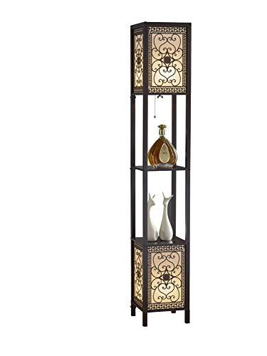 Artiva USA A808102DEX Infinity Heart Shelf Floor Lamp, 64', Expresso