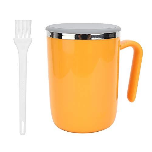 Selbstrührende Kaffeebecher, Intelligente Automatische Selbstmischende Tasse für Büro/Küche/Reise/Zuhause, Lazy Person Gift - 360ML(Orange)