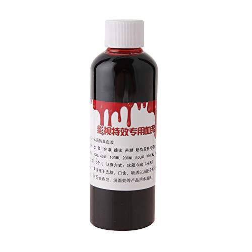 Sangue finto, ferite ferite professionali realistiche di Halloween contusioni zombie vampiro fantasia viso corpo vernice olio costume trucco sangue(100ml)