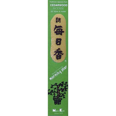 Nippon Kodo cedarw Ood – Bois de cèdre – Morning Star – Bâtonnets d'encens japonais de Nippon Kodo Japon