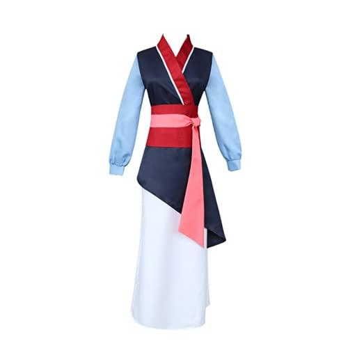 Gosbeliy Disfraz de Cosplay de Anime Mulan, disfraz de Halloween, vestido tradicional chino para mujer, conjunto completo