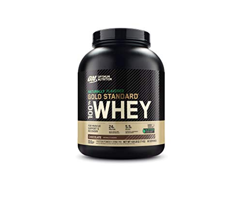 Optimum Nutrition Gold Standard 100% Whey Protein Powder  Naturally Flavored Chocolate  4.8 Pound (Packaging May Vary)