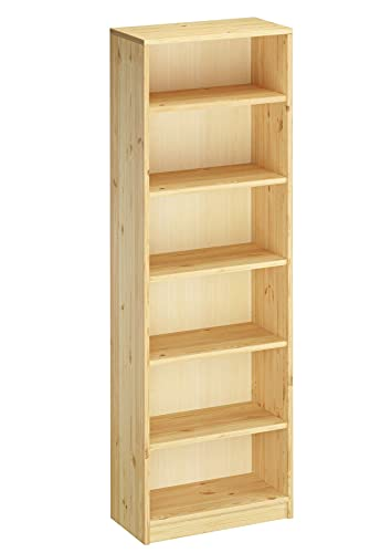 Erst-Holz® Regal Bücherregal Wandregal Standregal Holzregal Massivholz Kiefer Farbe wählbar V-90.82-41-18, Holzart/Holzfarbe:Kiefer