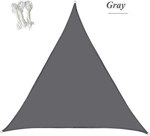 Shade Breathable Balcony Sunshade for Shadows and Wind Deflectors Yellow Sand Gray Balcony Terrace Triangular Sail White 4 x 4 x 4-m (13 x 13 x 13-ft)-2 x 2 x 2-m (6.6 x 6.6 x 6.6ft)_Grey_ 0724