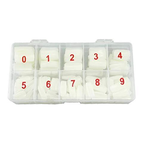 500pcs pleine couverture naturelle faux ongles Conseils faux avec la boîte artificielle Faux Ongles Art acrylique Manucure Gel pour l'onglerie DIY Nai