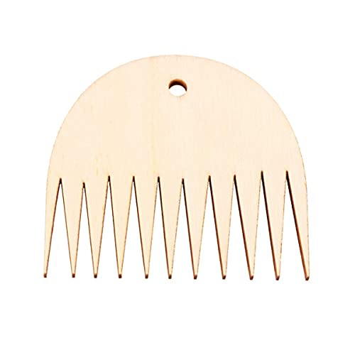 LIXBD, pettine per tessitura di arazzi in legno, pettine intrecciato fai da te per lavori a maglia, accessori per tappezzeria, artigianato, decorazione da parete